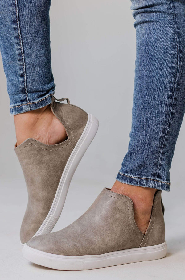 Grant Side Cut Sneakers Taupe