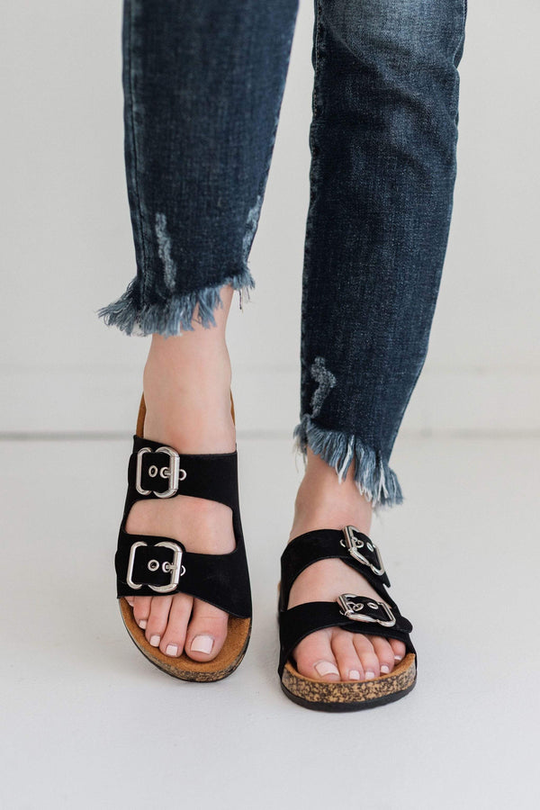 Shoes Hendrix Buckled Sandals Black