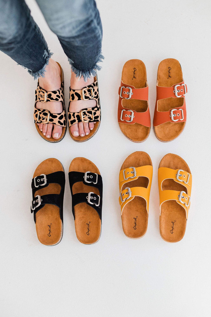 Shoes Hendrix Buckled Sandals Leopard