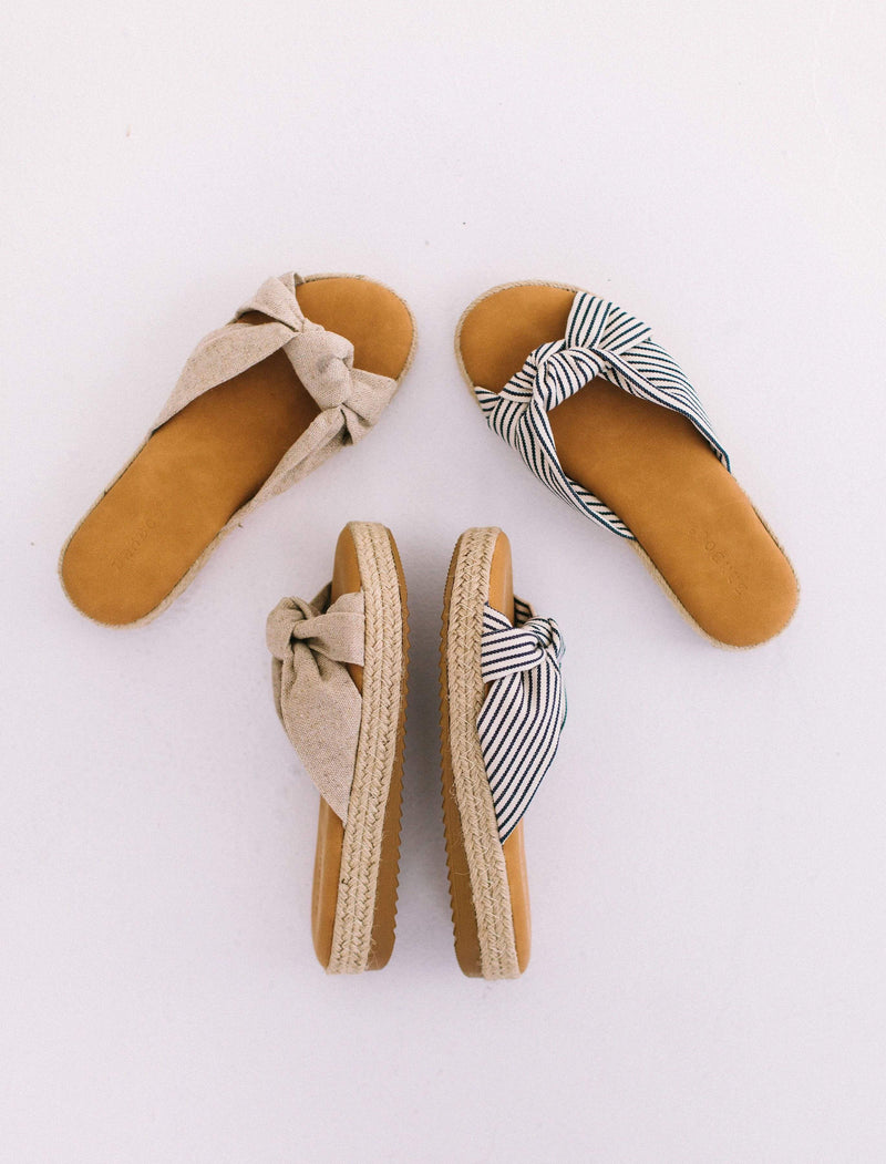Shoes Knot Top Sandals Natural
