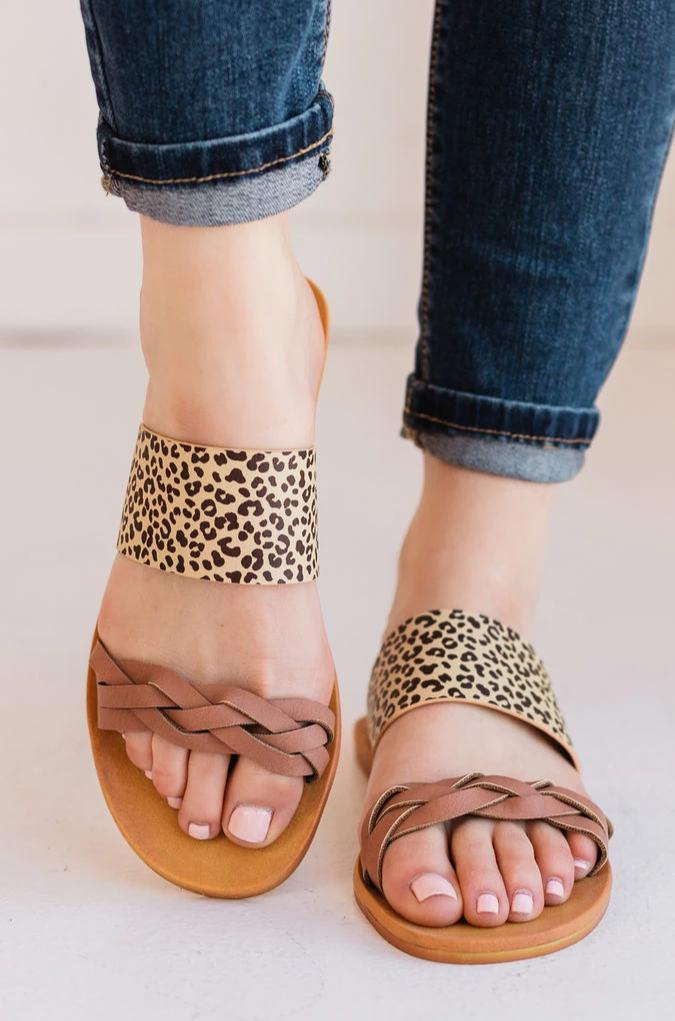 Shoes Maya Braided Sandals Leopard