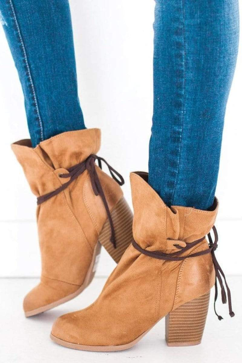 Shoes Maze Slouch Bootie Tan 5.5
