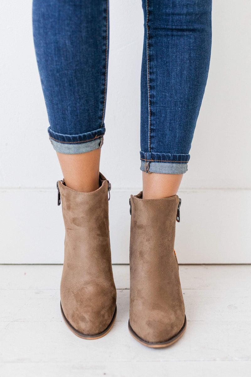 Shoes Mika Embroidered Booties Taupe