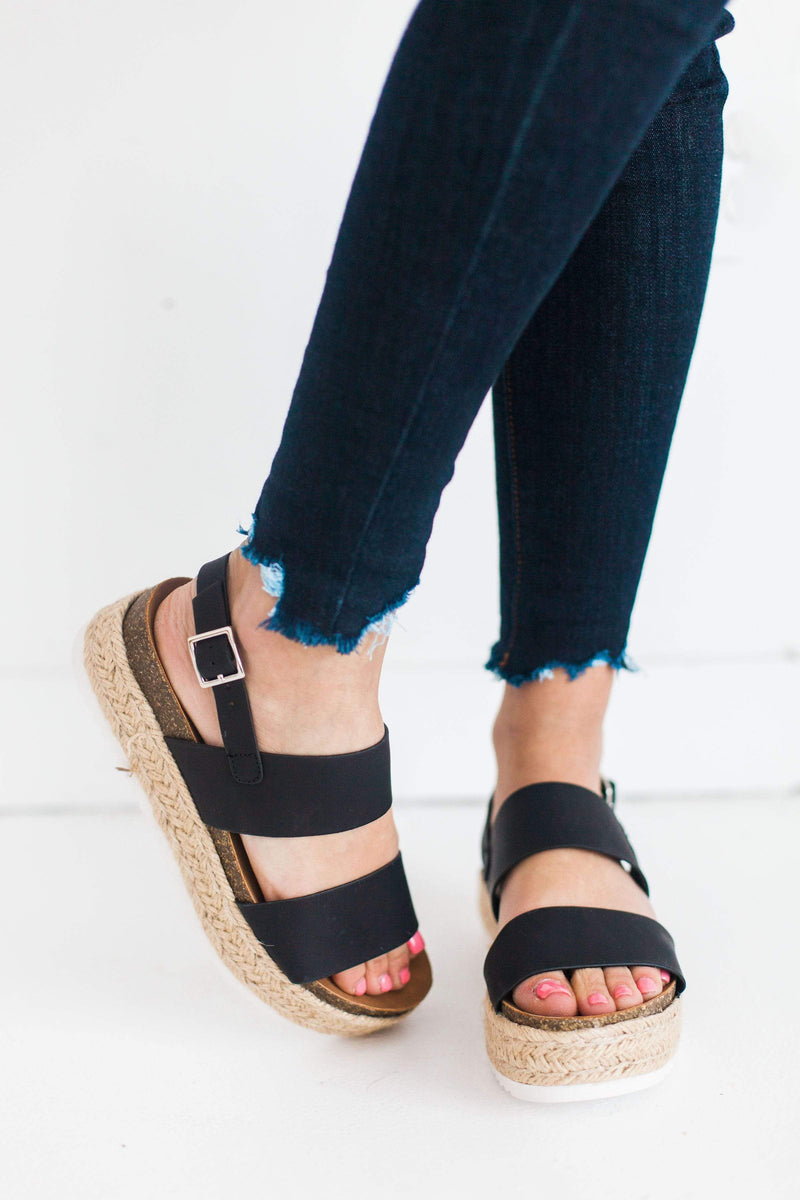 Shoes Platform Sandals Black