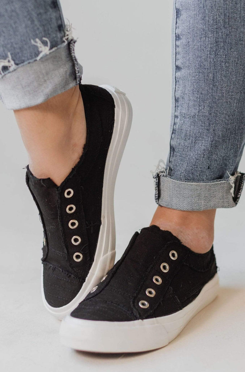 Shoes Playful Slip On Sneakers Black