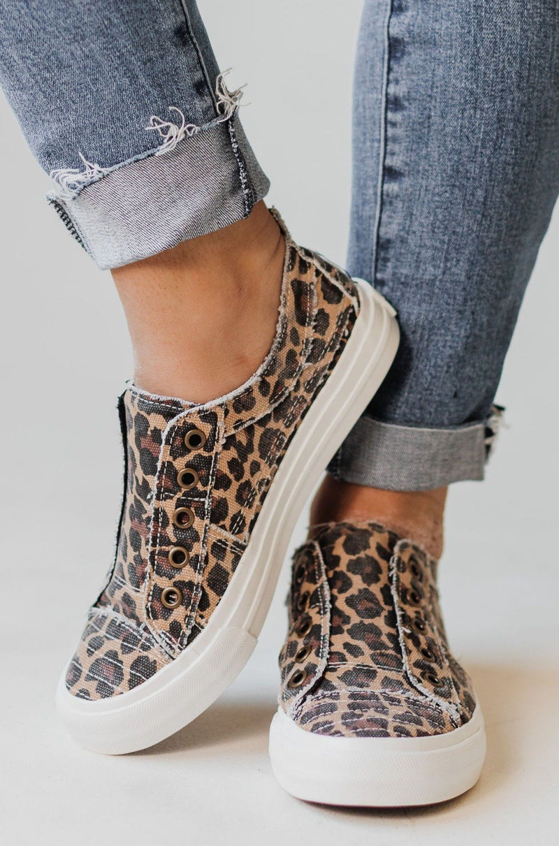 Shoes Playful Slip On Sneakers Leopard