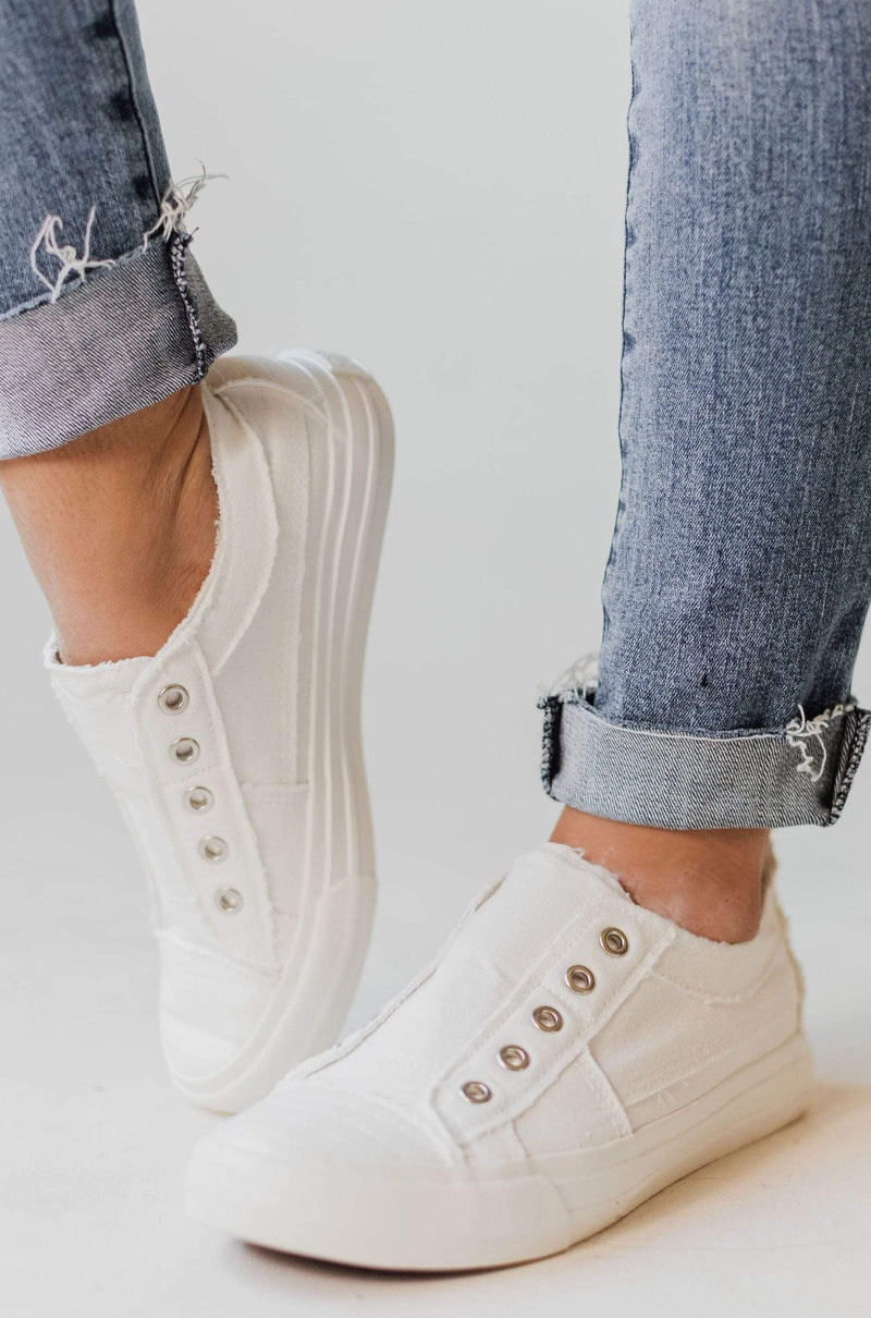 Playful Slip On Sneakers White