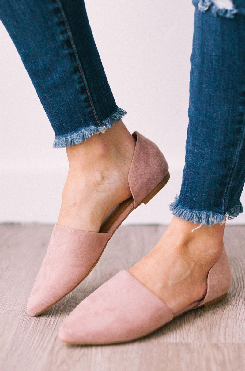 Shoes Pointed Toe Flats Blush