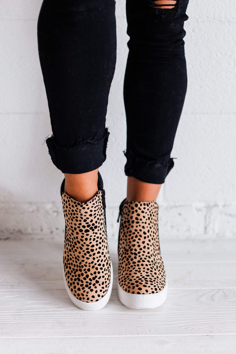 Shoes Rodina Leopard Wedge Sneakers