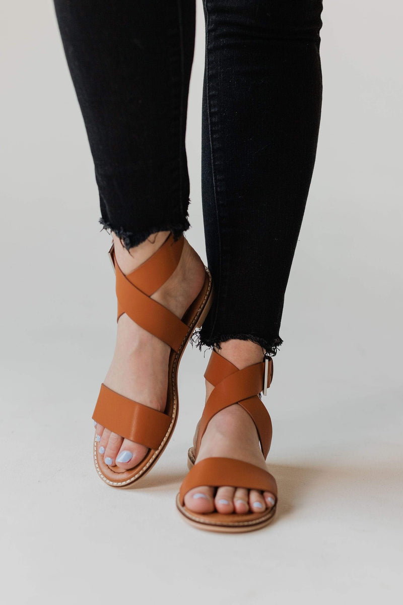 Shoes: Sandals Side Buckle Sandals Camel