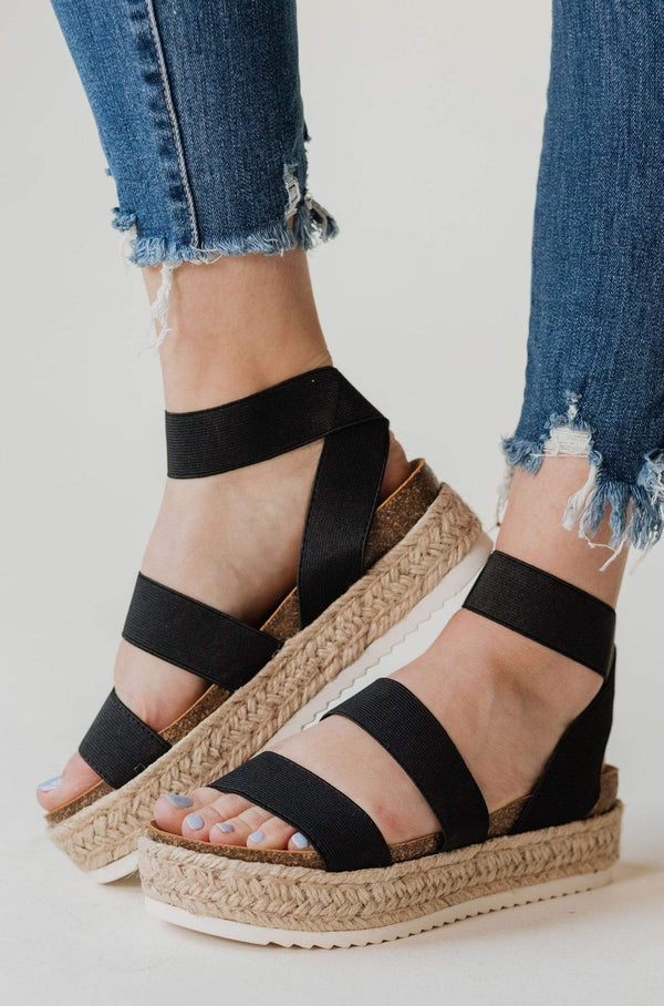 Shoes: Sandals Sunshine Espadrille Sandals Black
