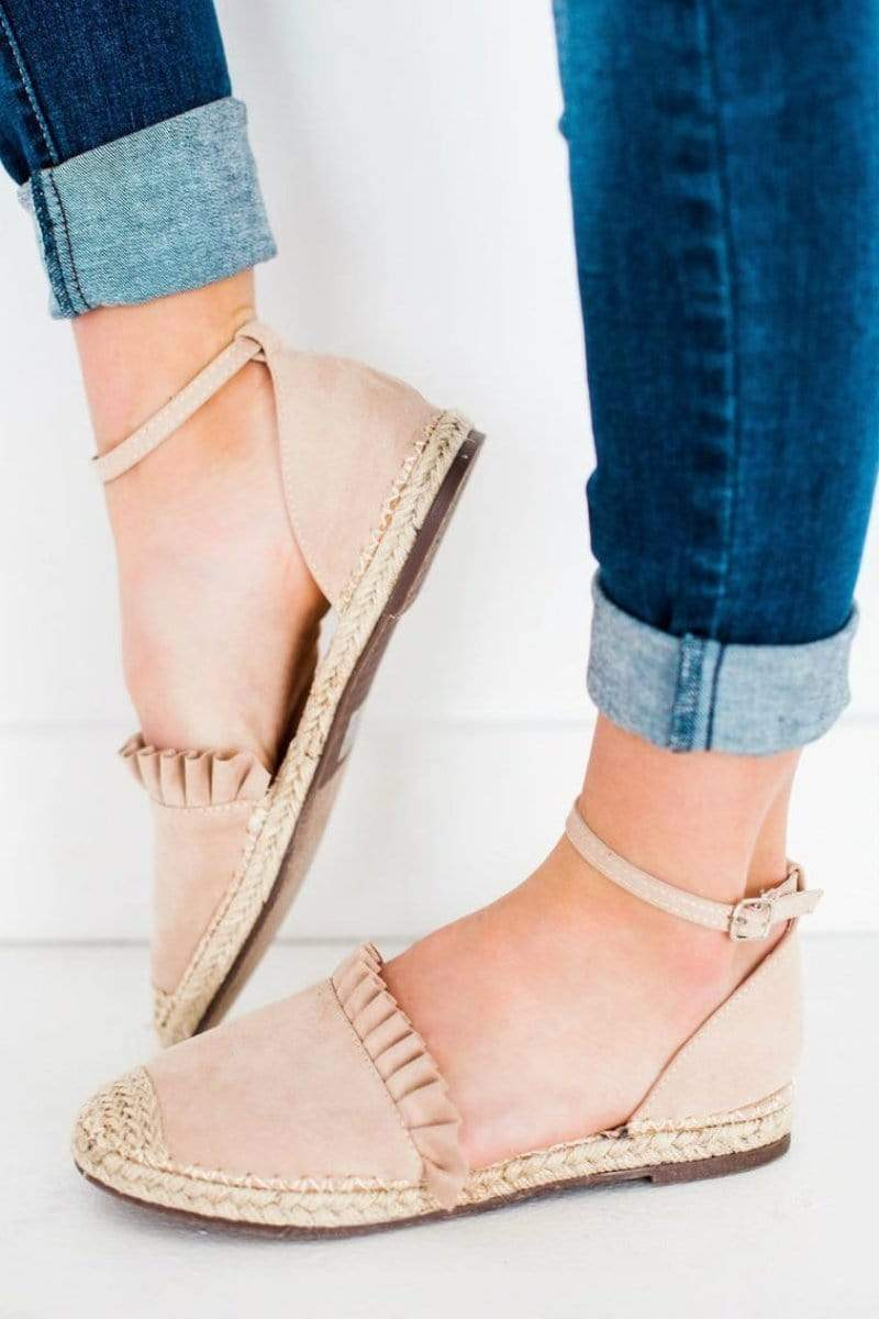Shoes Sierra Espadrille Flats Nude 5.5
