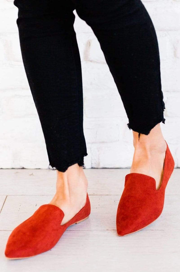 Shoes Sloane Slip On Flats Brick