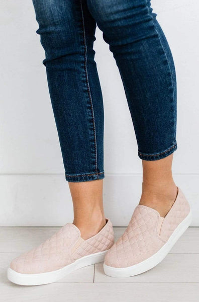 Quilted Sneakers Blush – Lucy Avenue