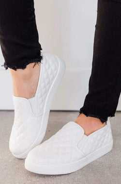 Shoes: Sneakers Quilted Sneakers White