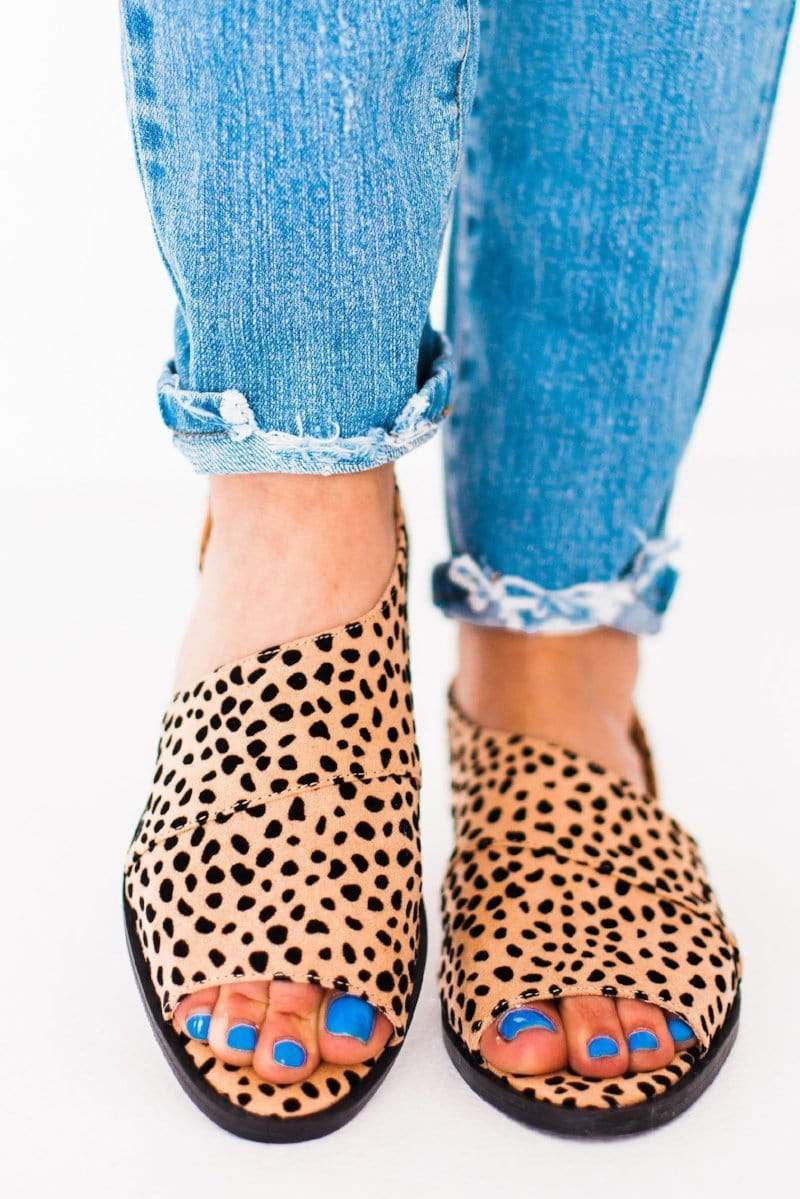 Shoes Sting Side Cut Out Flats Leopard