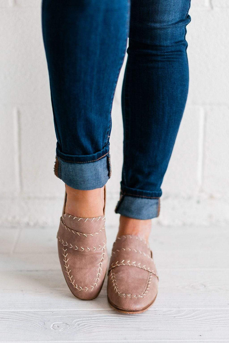 Shoes Stitch Detailed Mules Rose