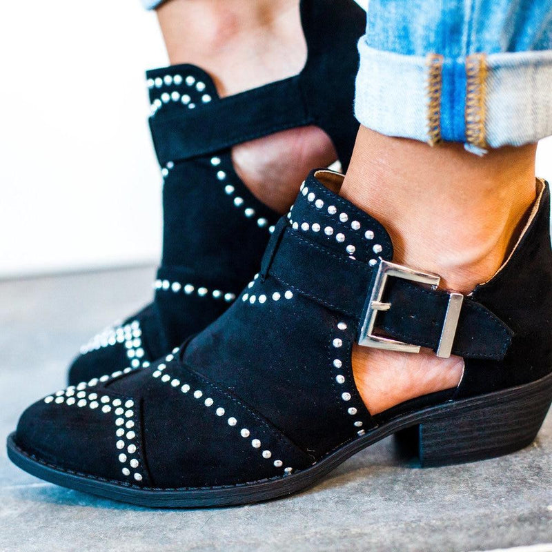 Shoes Studded Bootie Black 5.5