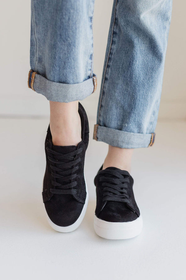 Shoes Sutton Lace Up Sneakers Black