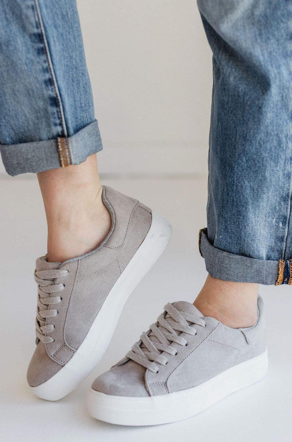 Shoes Sutton Lace Up Sneakers Grey