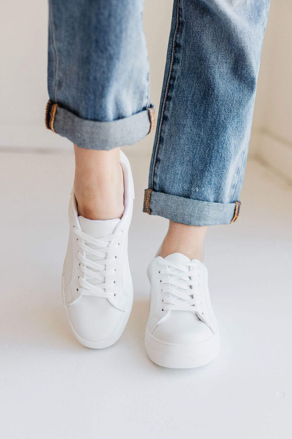 Shoes Sutton Lace Up Sneakers White