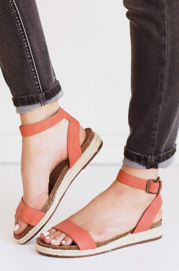 Shoes Tacoma Espadrille Sandals Coral