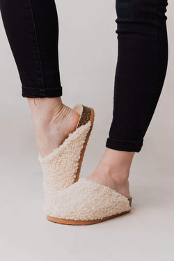 Shoes Teddy Fur Slippers Beige