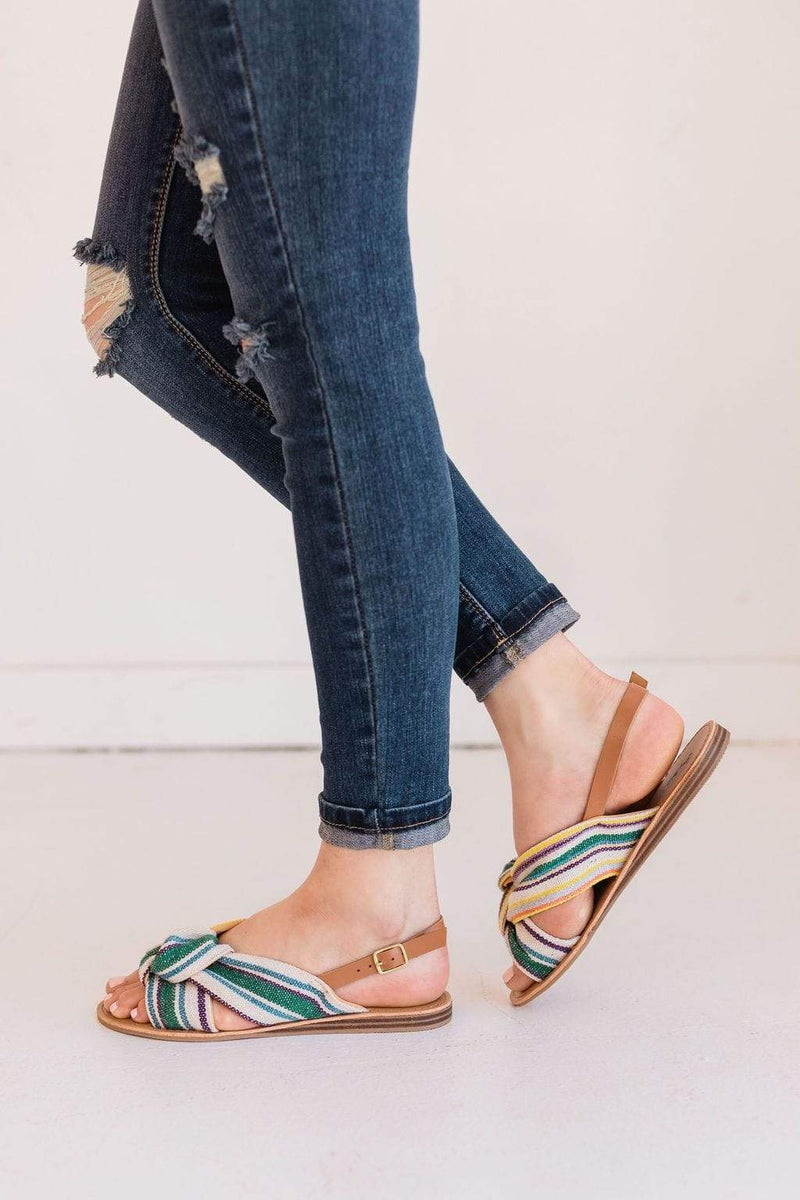 Shoes Top Knotted Sandals Multi