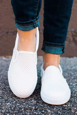 Shoes Tracer Perforated Sneakers White