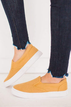 Shoes Tracer Perforated Sneakers Yellow