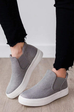 Shoes Wood Side Stretch Sneakers Grey