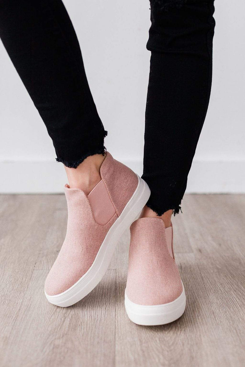 Shoes Wood Side Stretch Sneakers Mauve