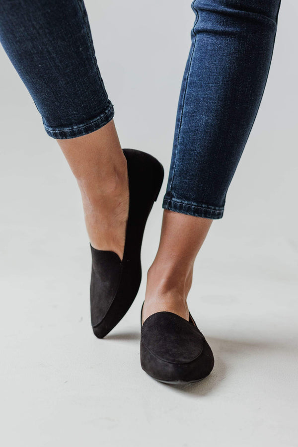 Shoes Yvette Slip On Flats Black