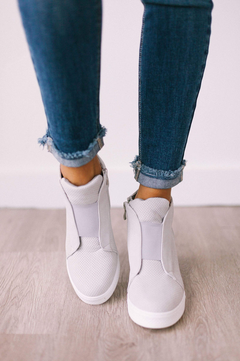 Shoes Zoey Wedge Sneakers Grey