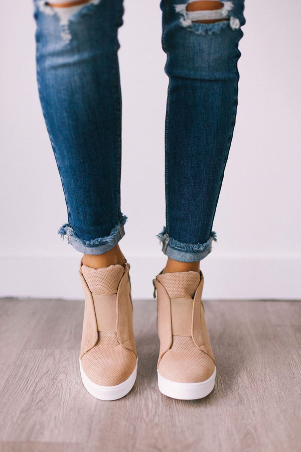 Shoes Zoey Wedge Sneakers Oatmeal