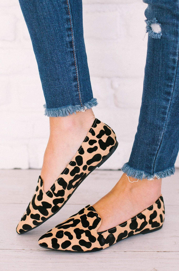Shoes Zoom Slip On Flats Leopard