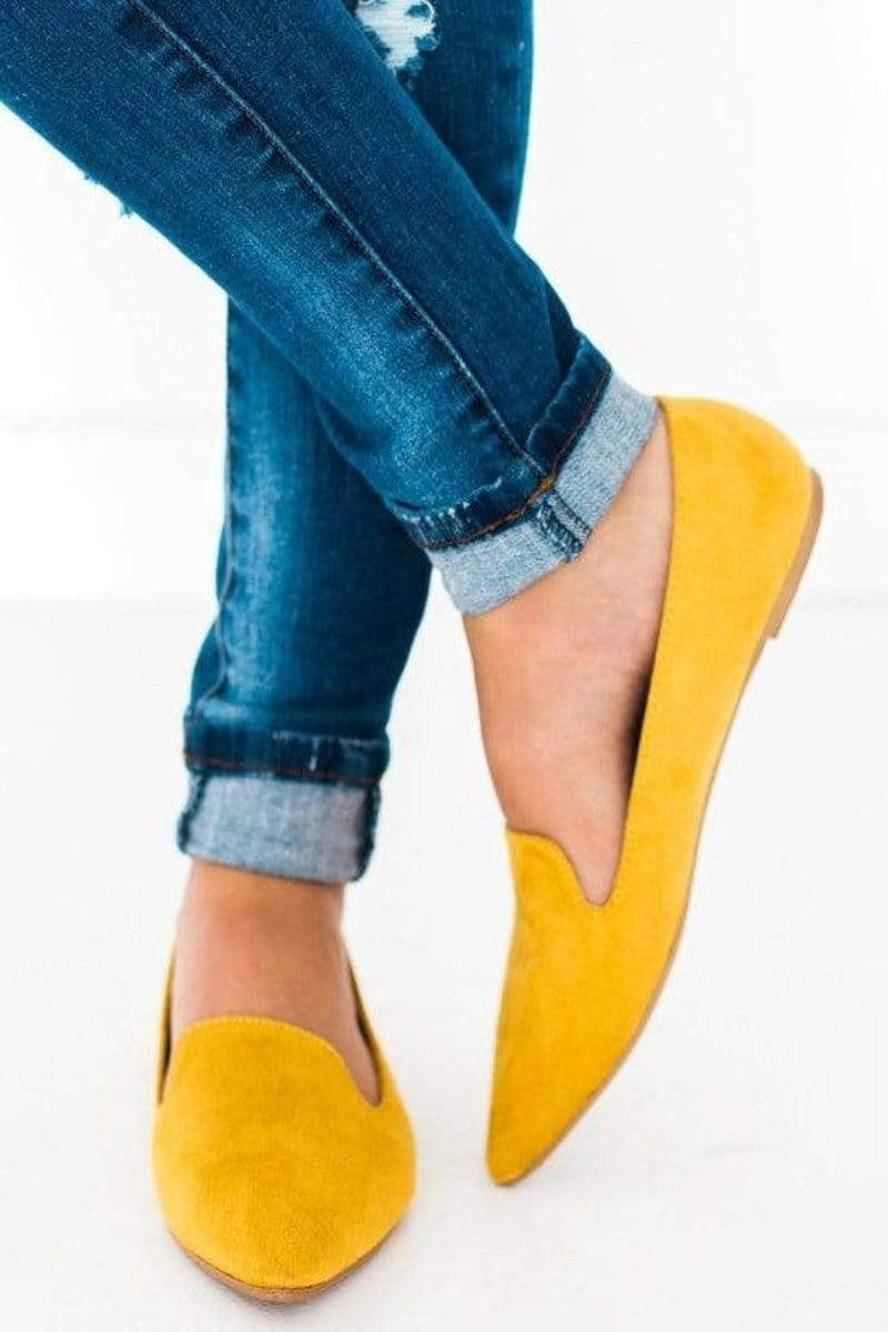 Shoes Zoom Slip On Flats Yellow 5.5