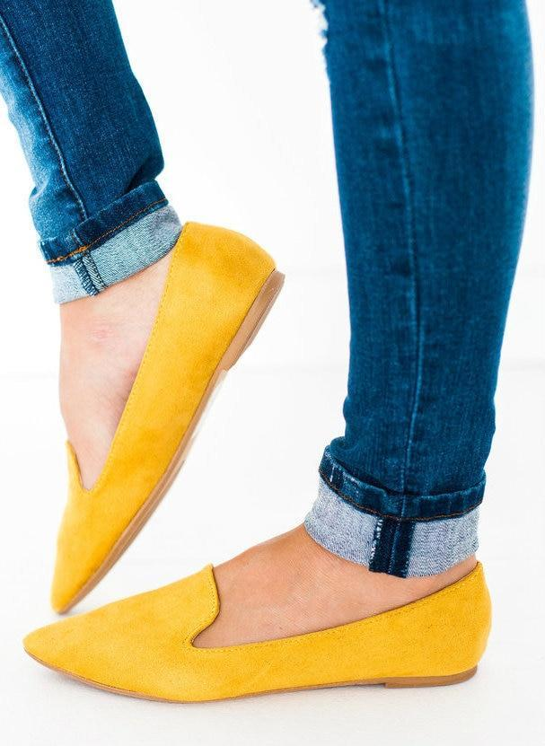 Shoes Zoom Slip On Flats Yellow