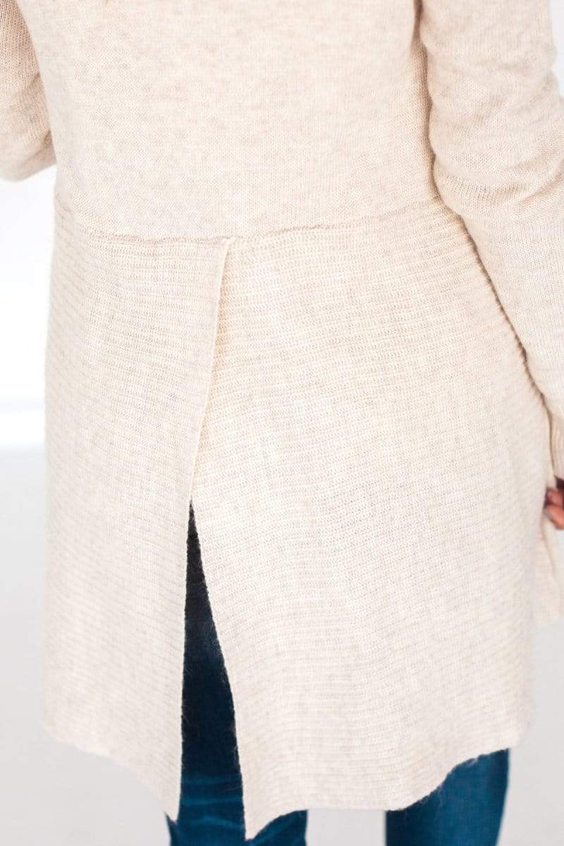 Spencer Ribbed Cardigan Cream
