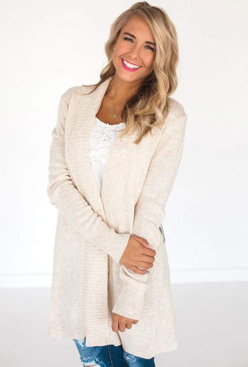 Spencer Ribbed Cardigan Cream Small