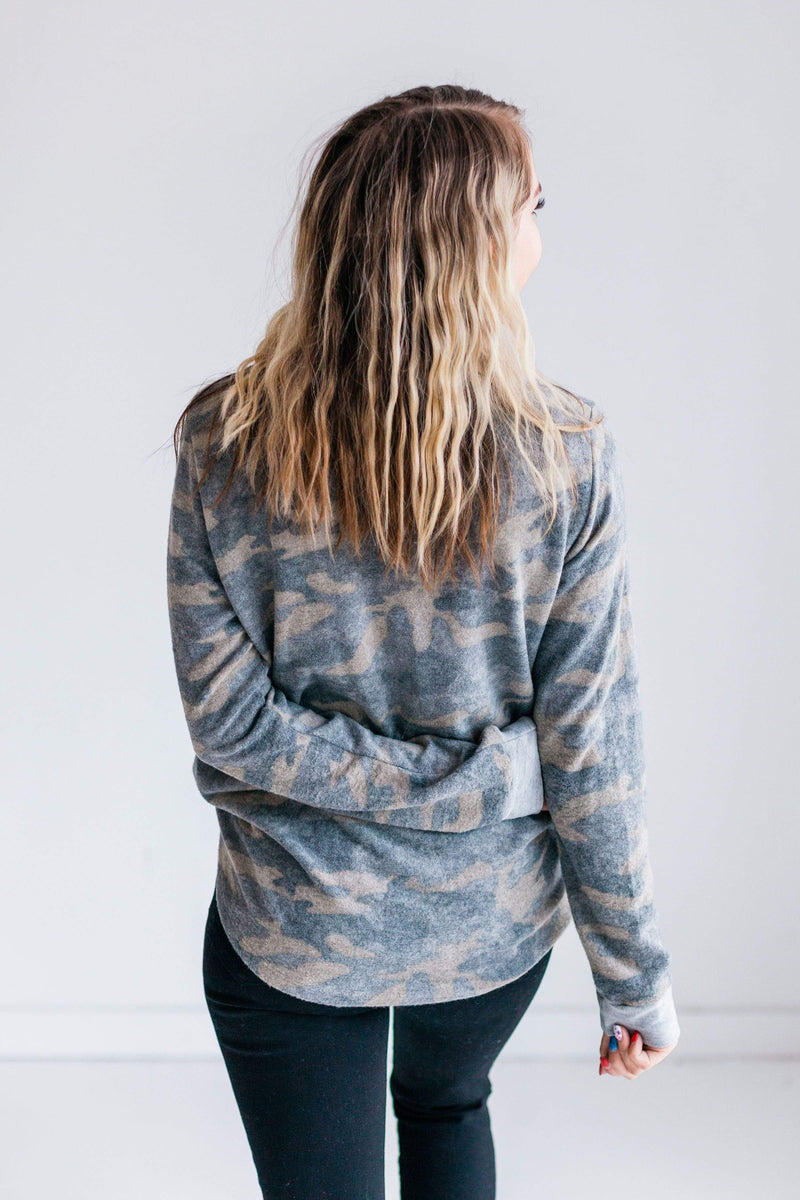 Top: Sweater Addi Camouflage Pullover