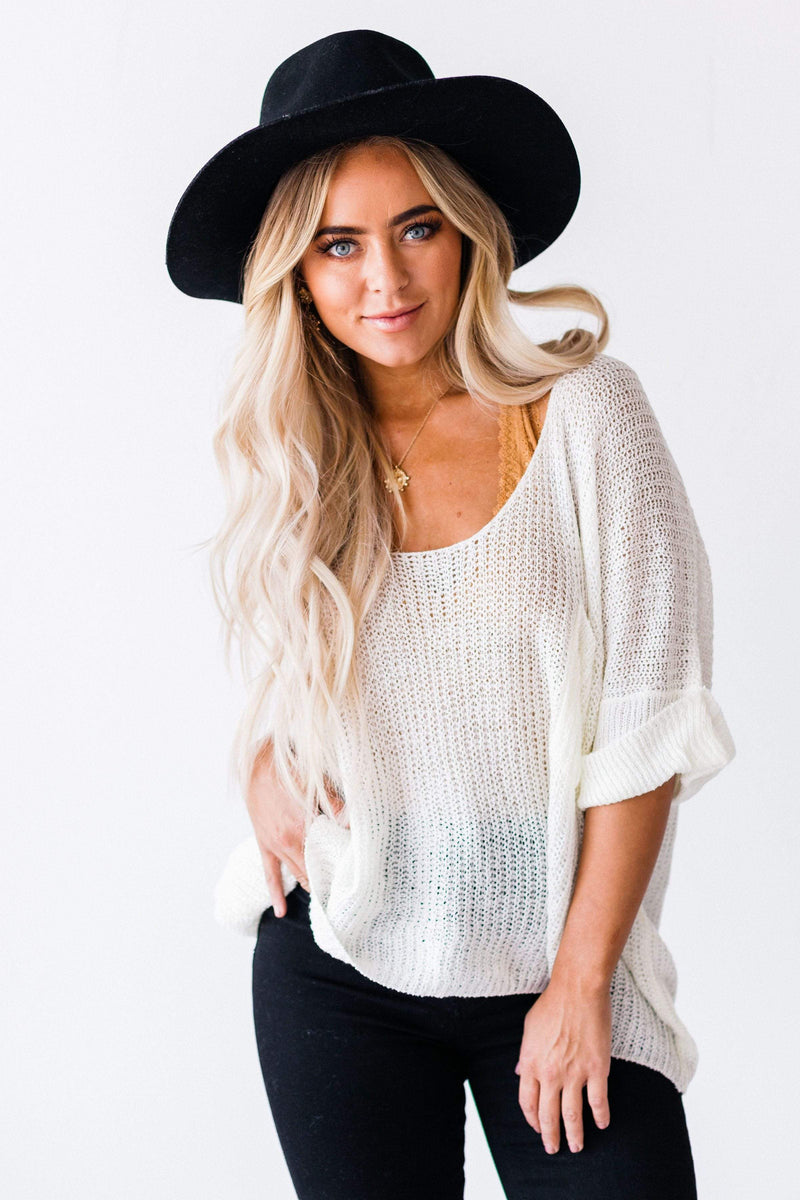 Top: Sweater Logan Oversized Sweater Ivory