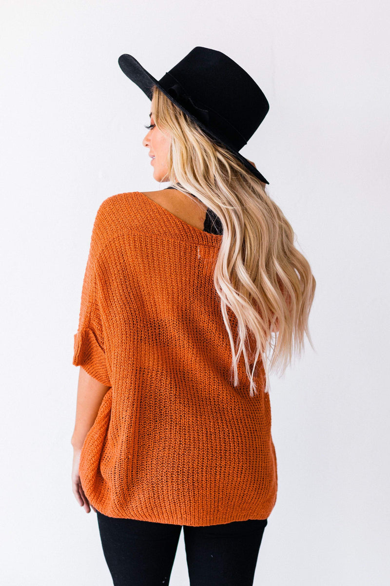 Top: Sweater Logan Oversized Sweater Rust