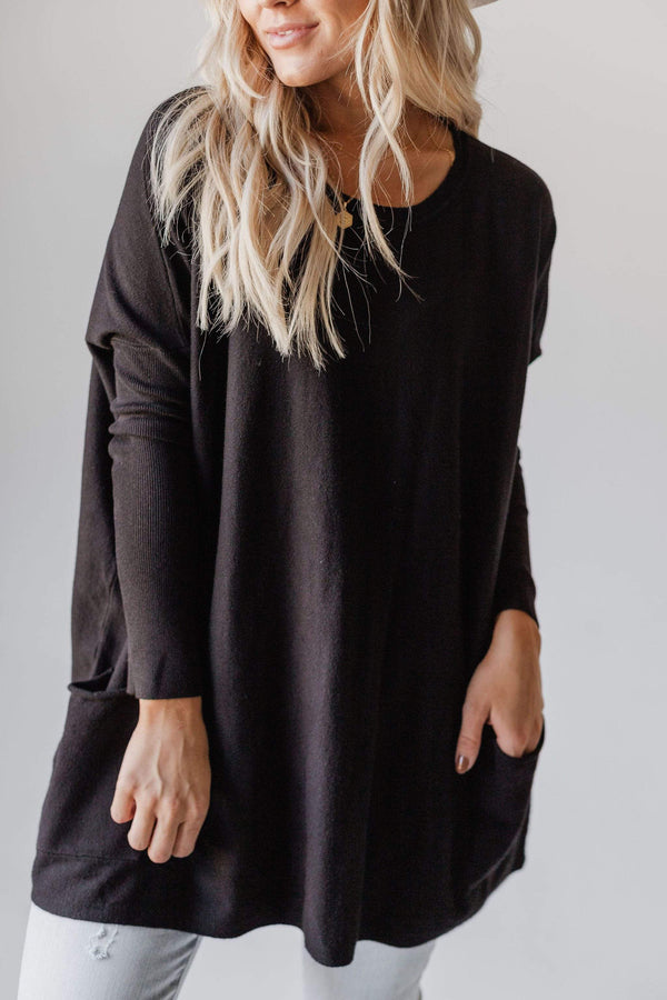 Top: Sweater Nova Relaxed Sweater Black