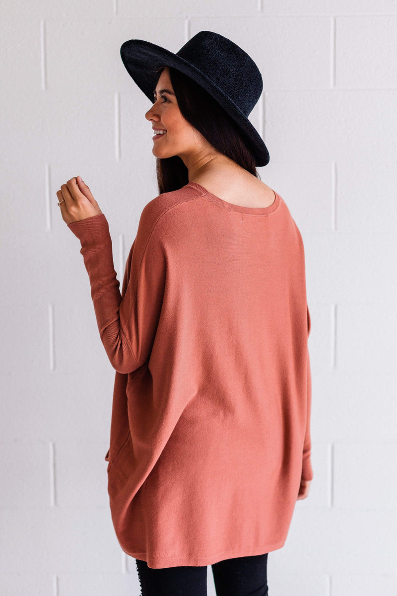 Top: Sweater Nova Relaxed Sweater Brick