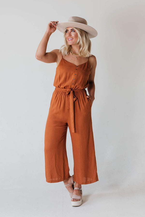 Tops Alex Jumpsuit Toffee