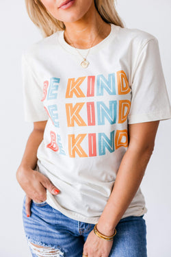 Tops Be Kind Tee Cream