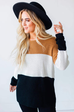 Tops Becky Color Block Sweater