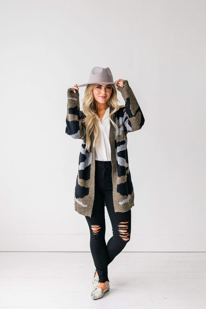 Tops Camille Camouflage Cardigan