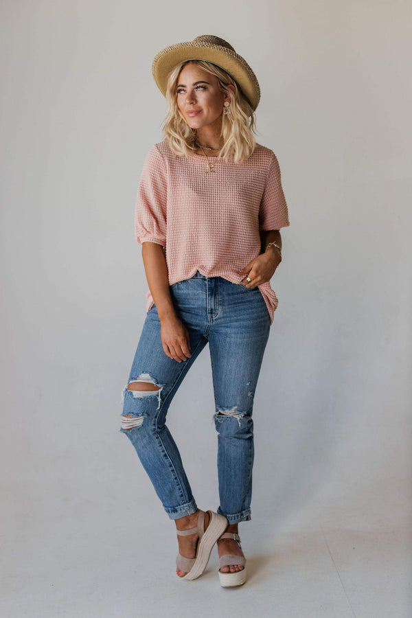 Tops Carissa Thermal Top Blush